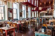 Empty restaurant of the Cosy Club