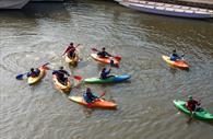 Kayaking on Exeter Quay