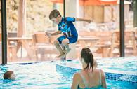 Jumping in the Pool at Cofton