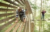 Tunnel in the sky at Go Ape!