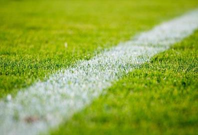 White line on a football pitch