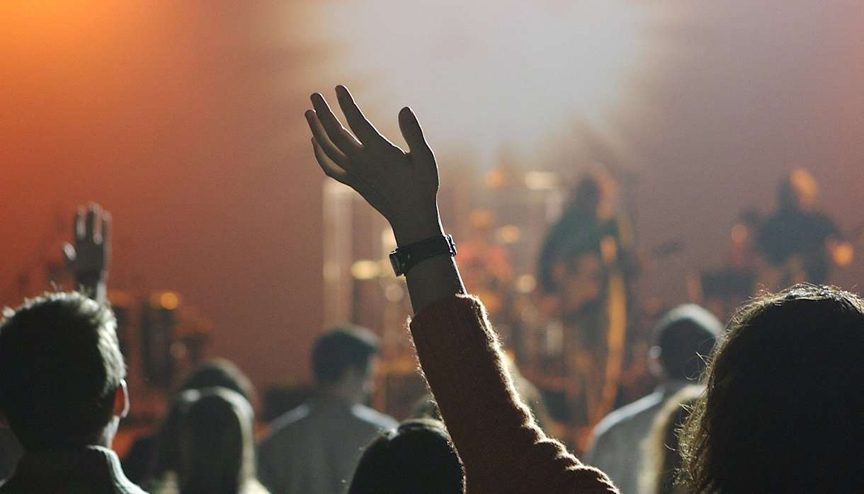 Audience at a music concert