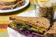 Sandwiches and chips at Cosy Club