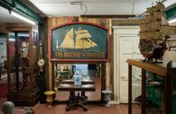 The British Schnooner sign inside the Antiques Village