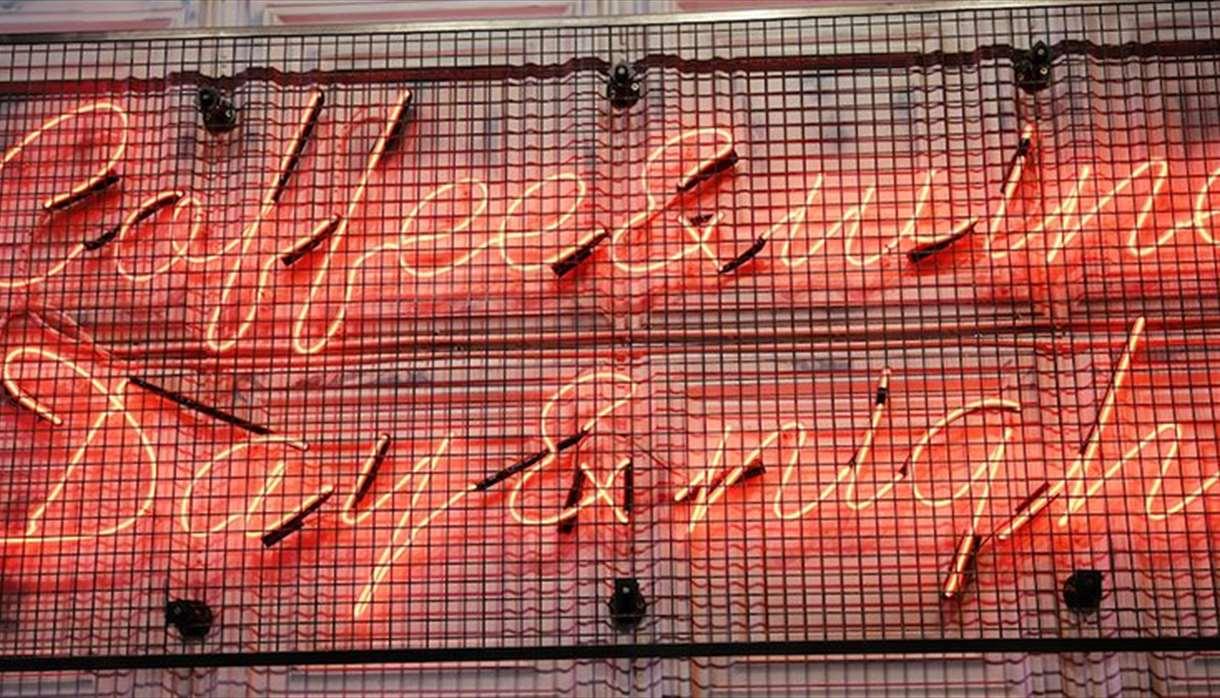 Artigiano light-up sign