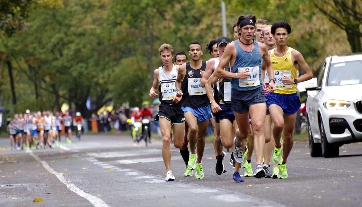 Men running in a race