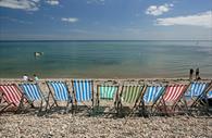 Deckchairs on beer beach