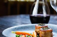 Red wine and meals at Bistro Du Vin