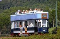 Seaton Tramway full of passengers