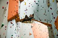Person on the Quay Climbing Centre wall