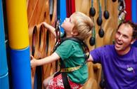 Small child using Clip 'n' Climb