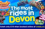 The Most rides in Devon. Fun whatever the weather. Tickets only £18 when booked online and crealy.co.uk