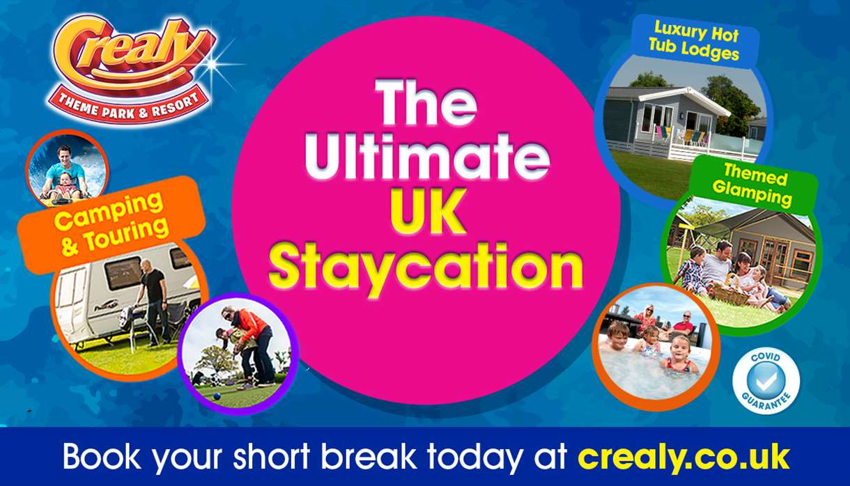 The Ultimate UK Staycation. Options include camping & touring, luxury hot tub lodges and themed glamping. Book your short break today at crealy.co.uk