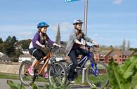 Cycling near Exeter quayside