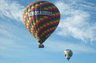 Two Aerosaurus balloons in the air