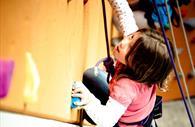 Child using Quay Climbing Centre