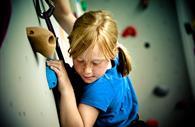 Child climbing in Quay Climbing Centre