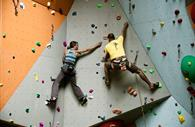 Two climbers in Quay Climbing Centre