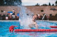 Splashing in the pool (Copyright Matt Austin)