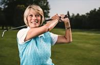Woman playing golf  (Copyright Matt Austin)