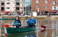 Canoeing on Exeter Quayside. Copyright: Tony Cobley