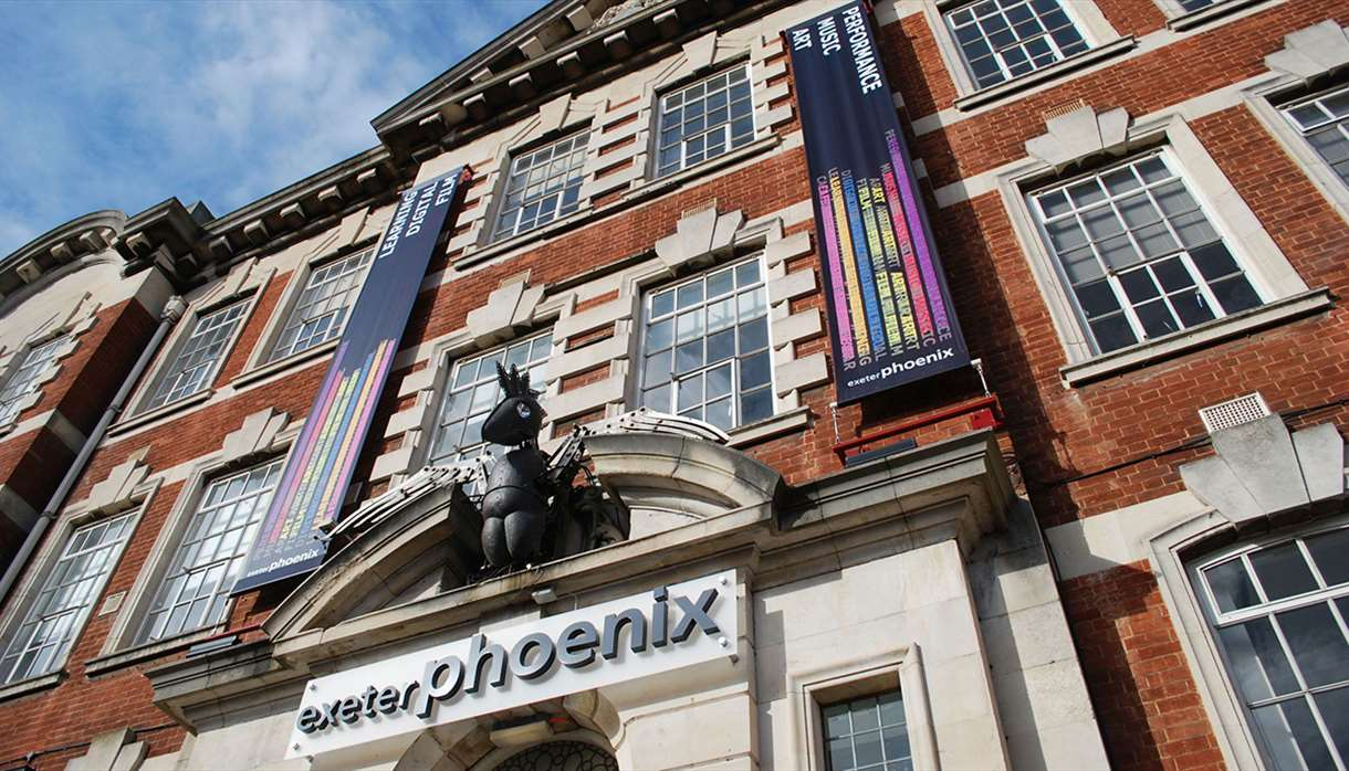 Angled image of the exterior of the Exeter Phoenix