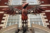 Phoenix statue outside the venue