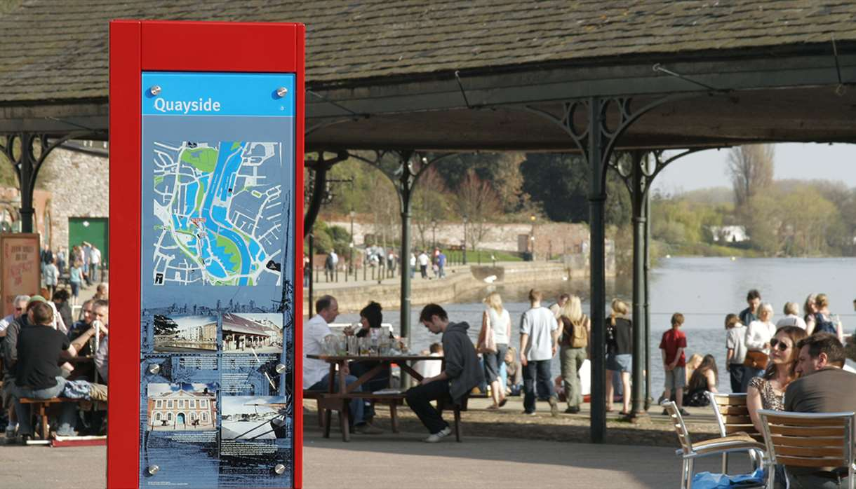 Monolith at Exeter Quayside. Copyright: DOminic Lowther