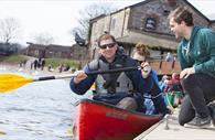 Canoeing on the Quay. Copyright: Tony Cobley