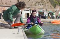 Kayaking on the Quay. Copyright: Tony Cobley