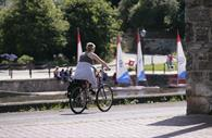 Cycling on Exeter Quayside