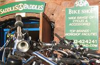 Exterior of Saddles and Paddles store