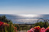 Image of the sea taken from Langstone Cliff Hotel