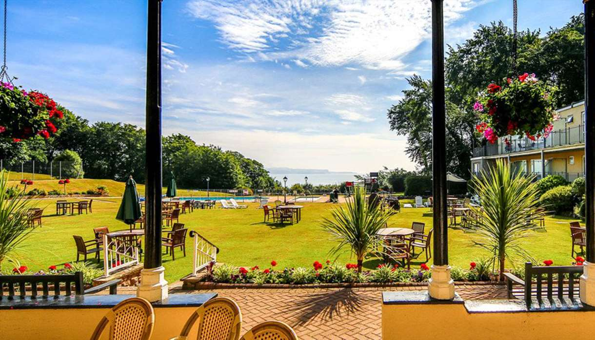 Al fresco dining area on a beautiful summers day