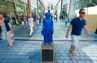 Blue boy statue in Princesshay