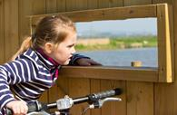 Child Cycling the Exe Estuary Trail