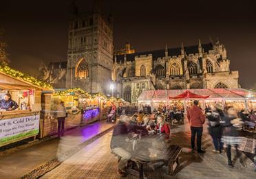 Exeter Christmas Market on Cathedral Green
