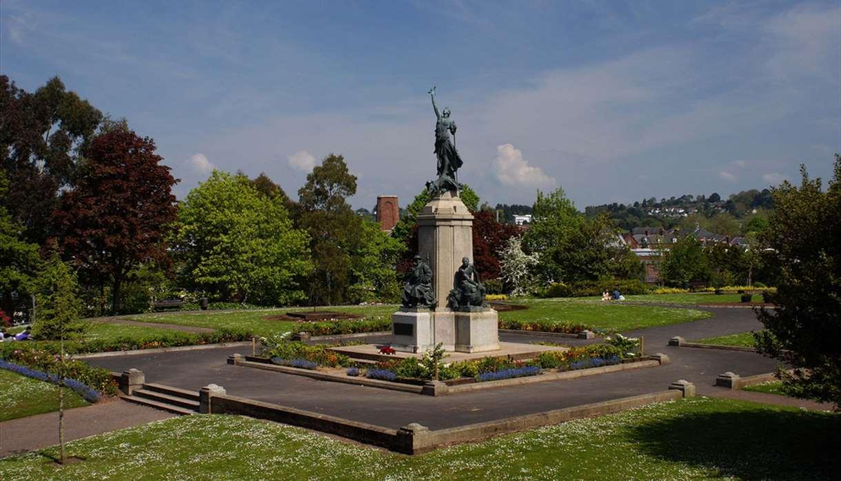 War statue in Exeter Nothernhay Gardens