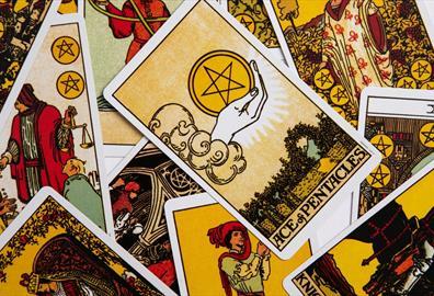 Colourful tarot cards