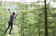 Go Ape Haldon Forest - tightrope walking