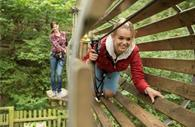 Go Ape Haldon Forest - tunnel in the air