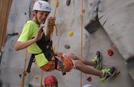 Climbing wall at Haven Banks