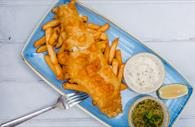 Haddock Large, beer battered, with chips and sides