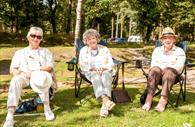 Haldon Forest Park - Forestry Commission - people sitting