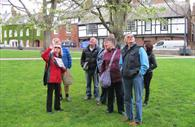 A Red Coat Guided Tour, on the Cathedral Green