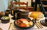 Exe Valley Bed and Breakfast: full English breakfast