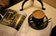 Exe Valley Bed and Breakfast: magazine and a tea