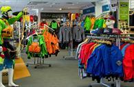 Watersport wear in the shop