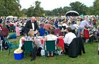 Outdoor event at Powderham