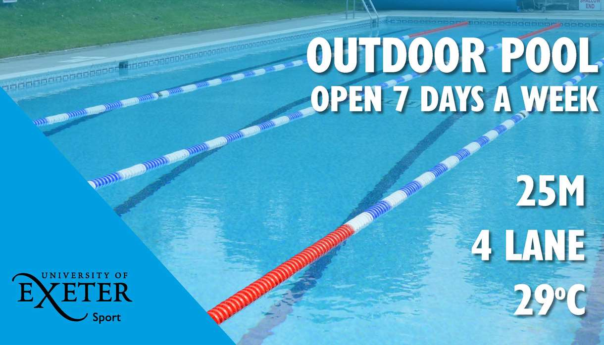 Outdoor pool at Exeter University